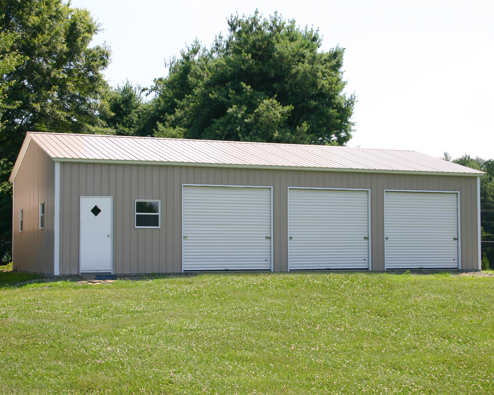 Mccarte pole barn kit prices nc for Steel garage plans