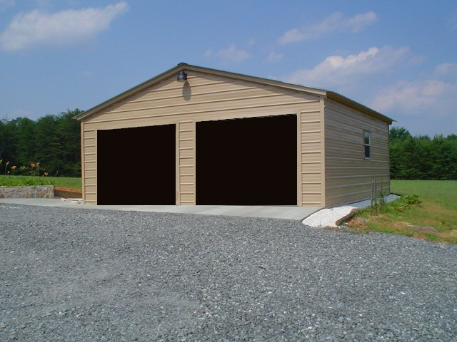 Garage metal steel buildings for Carport construction costs