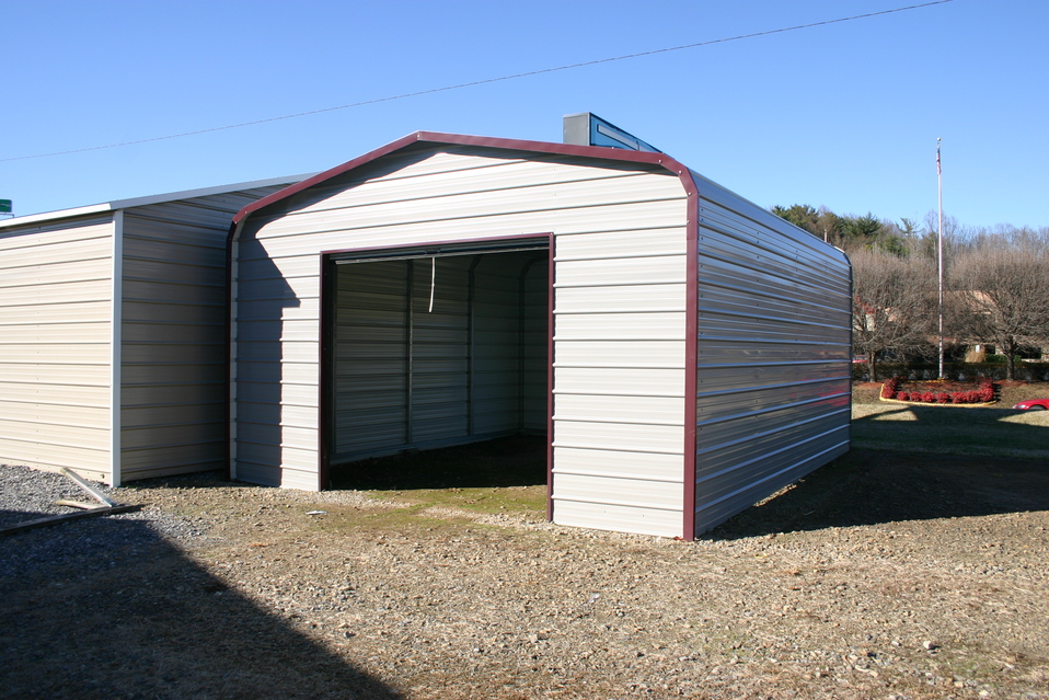 Metal garages tennessee tn prices for Garage building cost