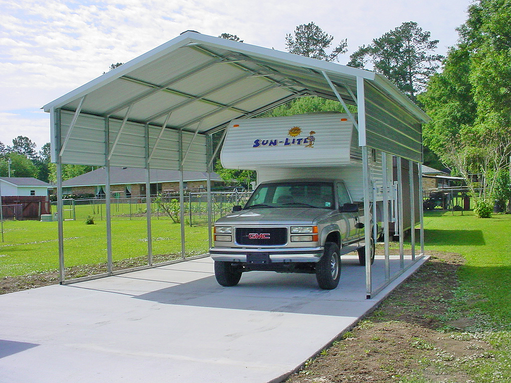 Metal Buildings Garages Carports Rv : Metal rv carports photos pixelmari